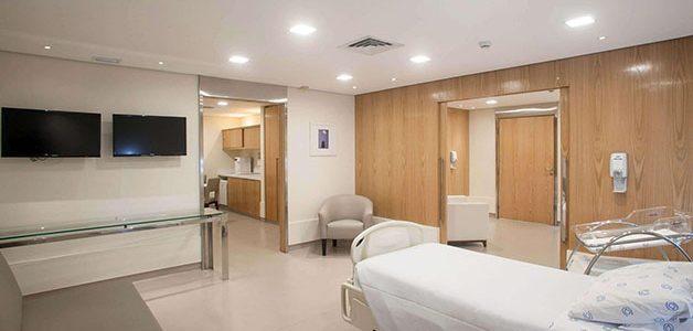 enfermaria ou apartamento